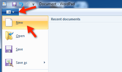 Launch WordPad in Windows 7 Using Search