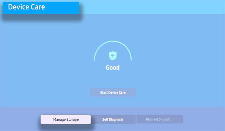 Wait for your TV to run a quick scan, then select Manage Storage.