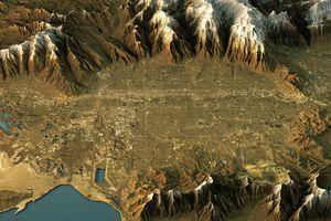 Topographic map of Salt Lake City, Utah