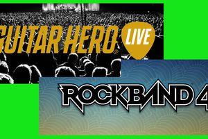 Rock Band 4 vs. GH Live