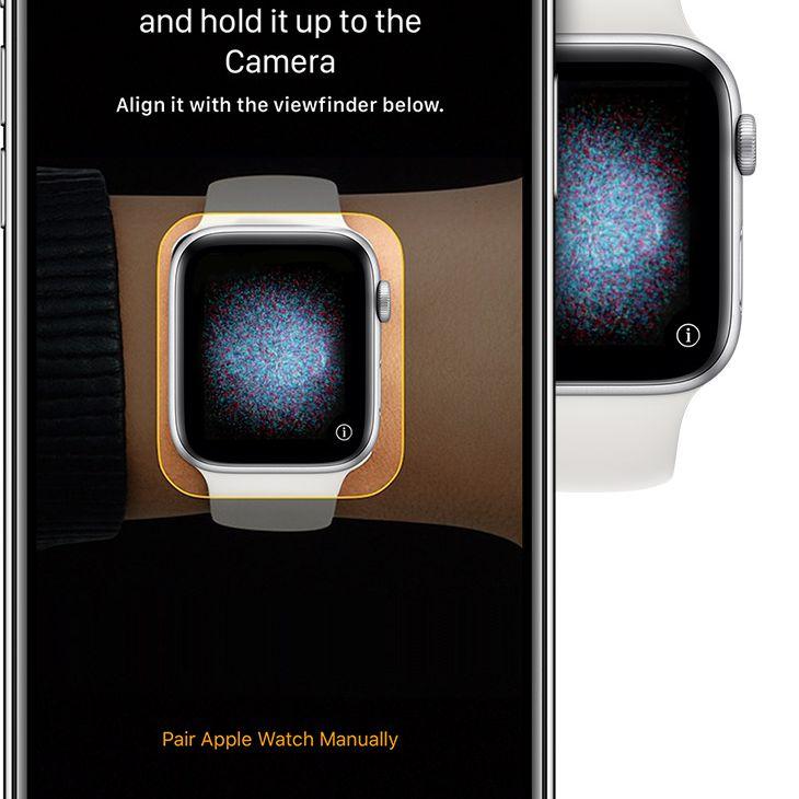 Apple Watch paring process