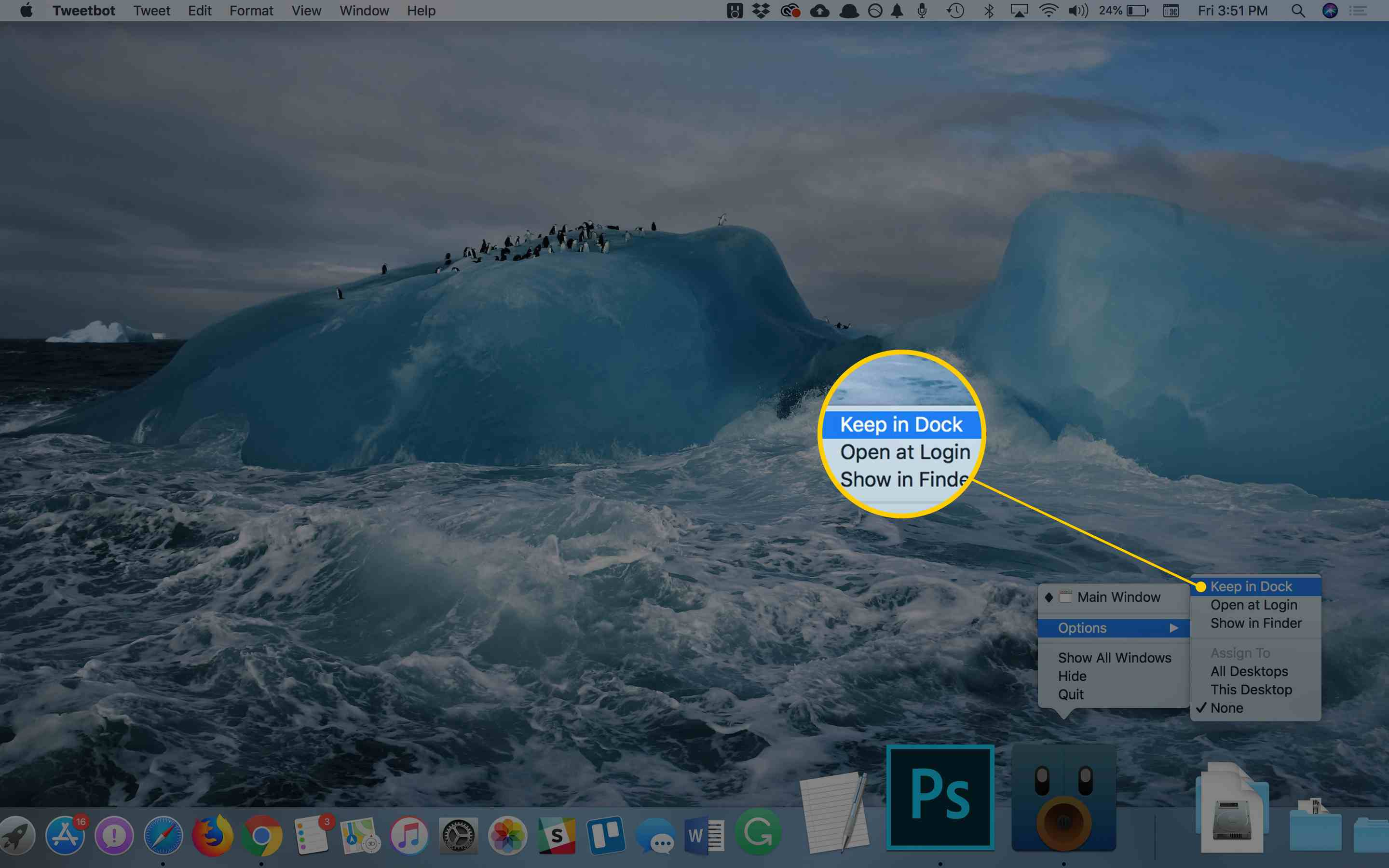 Add Any App You Wish to the Mac's Dock