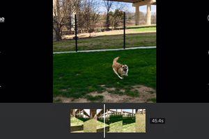 iMovie on an iPhone.