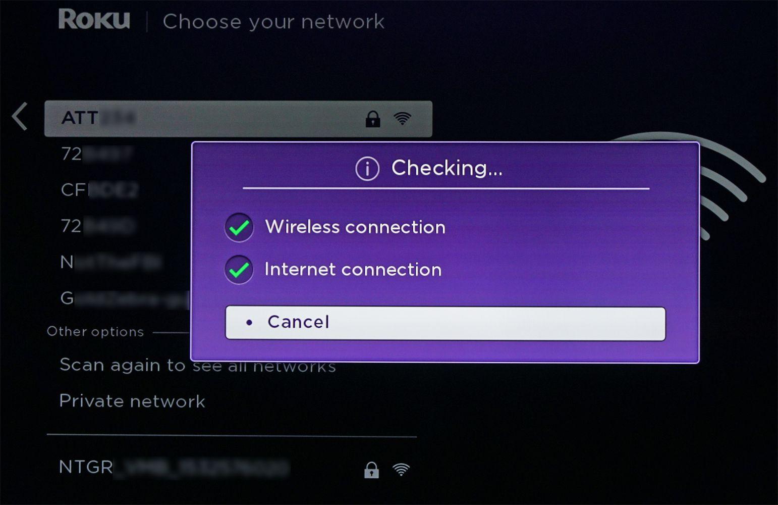 Roku Soundbar – Network Connection Confirmation