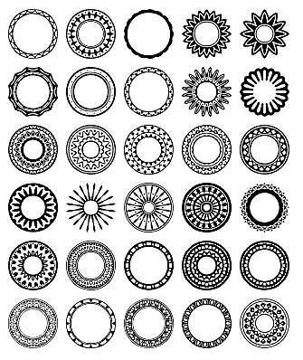 Circular Design Custom Shape Set 1