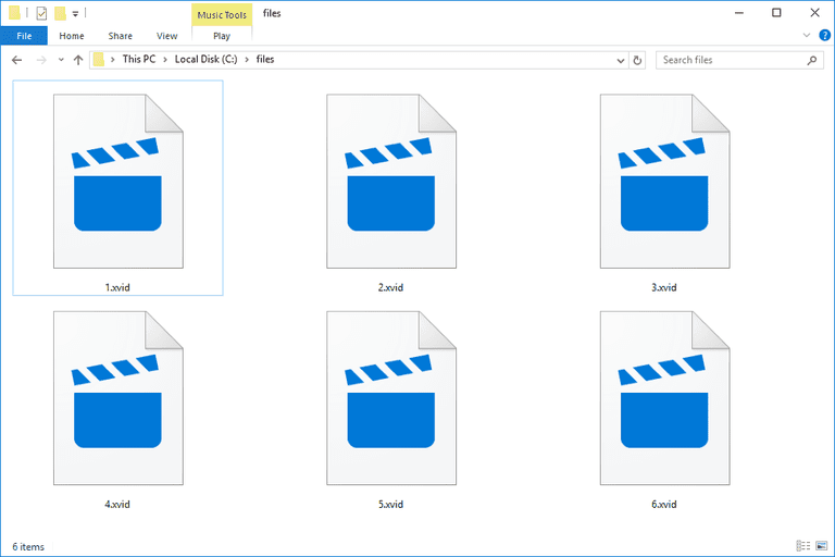 XVID files in Windows 10