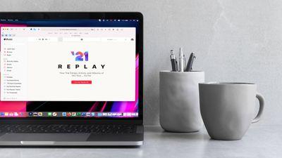 Apple Music Replay website in Safari on a MacBook Pro