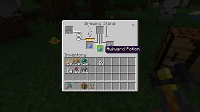Awkward Potion in the Minecraft brewing menu
