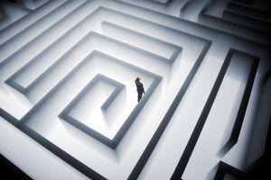 Person in a maze