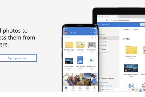 Microsoft OneDrive product page.