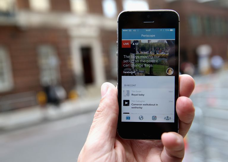 An image of the Periscope app on a smartphone.
