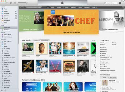 iTunes 12 display