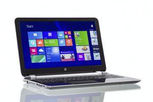 An HP laptop