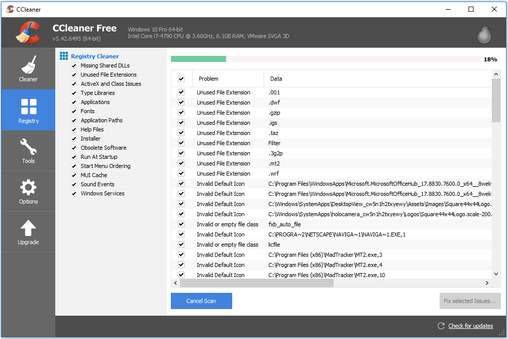 37 Free Registry Cleaner Programs (August 2019)