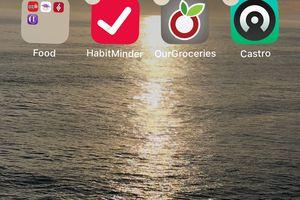 iPhone icons shaking screenshot