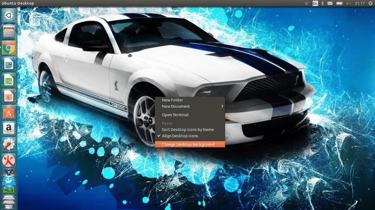 Drop-down on Ubuntu desktop.