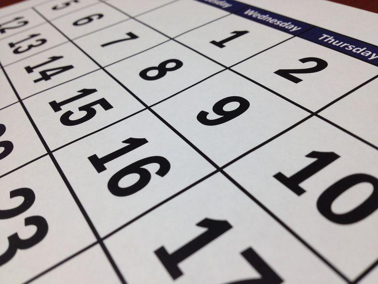 Image of a calendar.