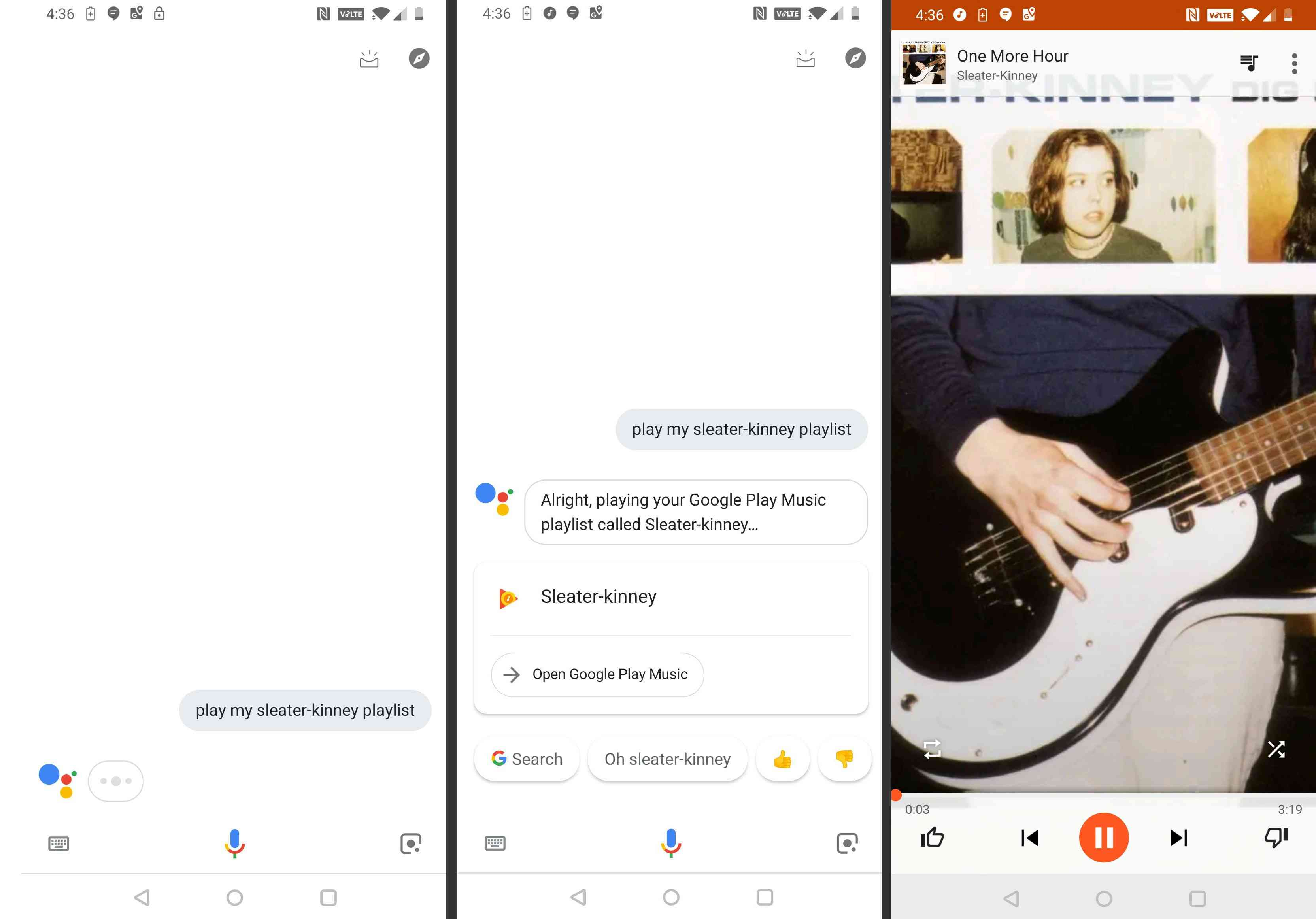 how to get Google Assistant to play a local playlist.