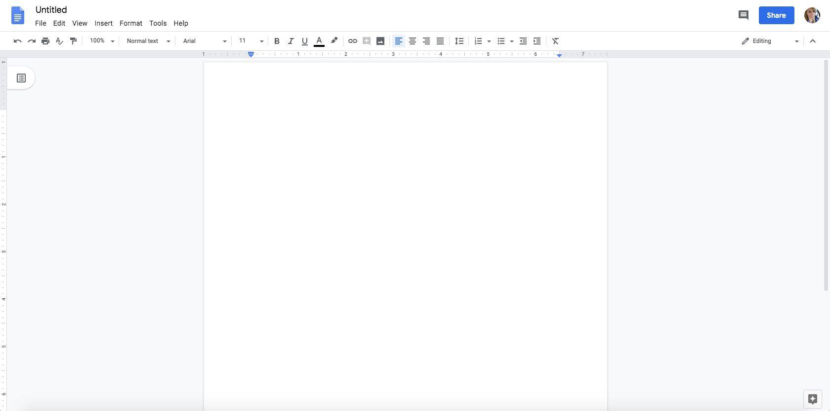 A screenshot of Google Docs.