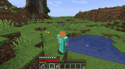 Fishing in Minecraft