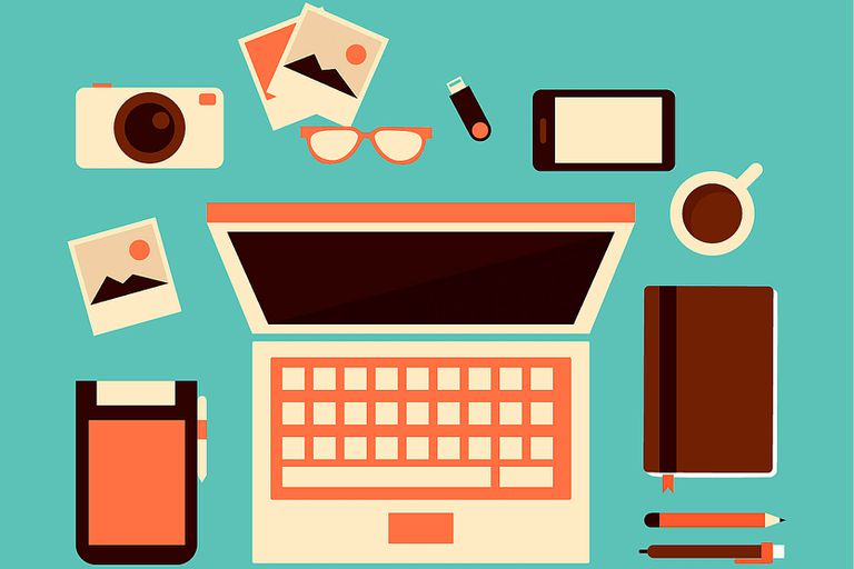 Illustration of a laptop and other gadgets