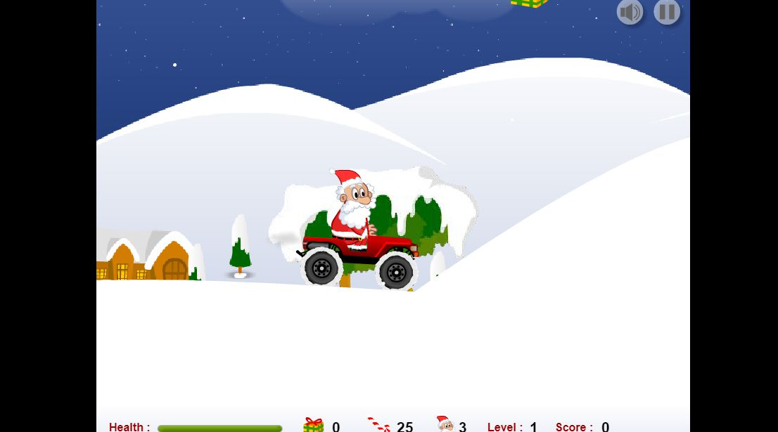 A screenshot of the game Santa Rush