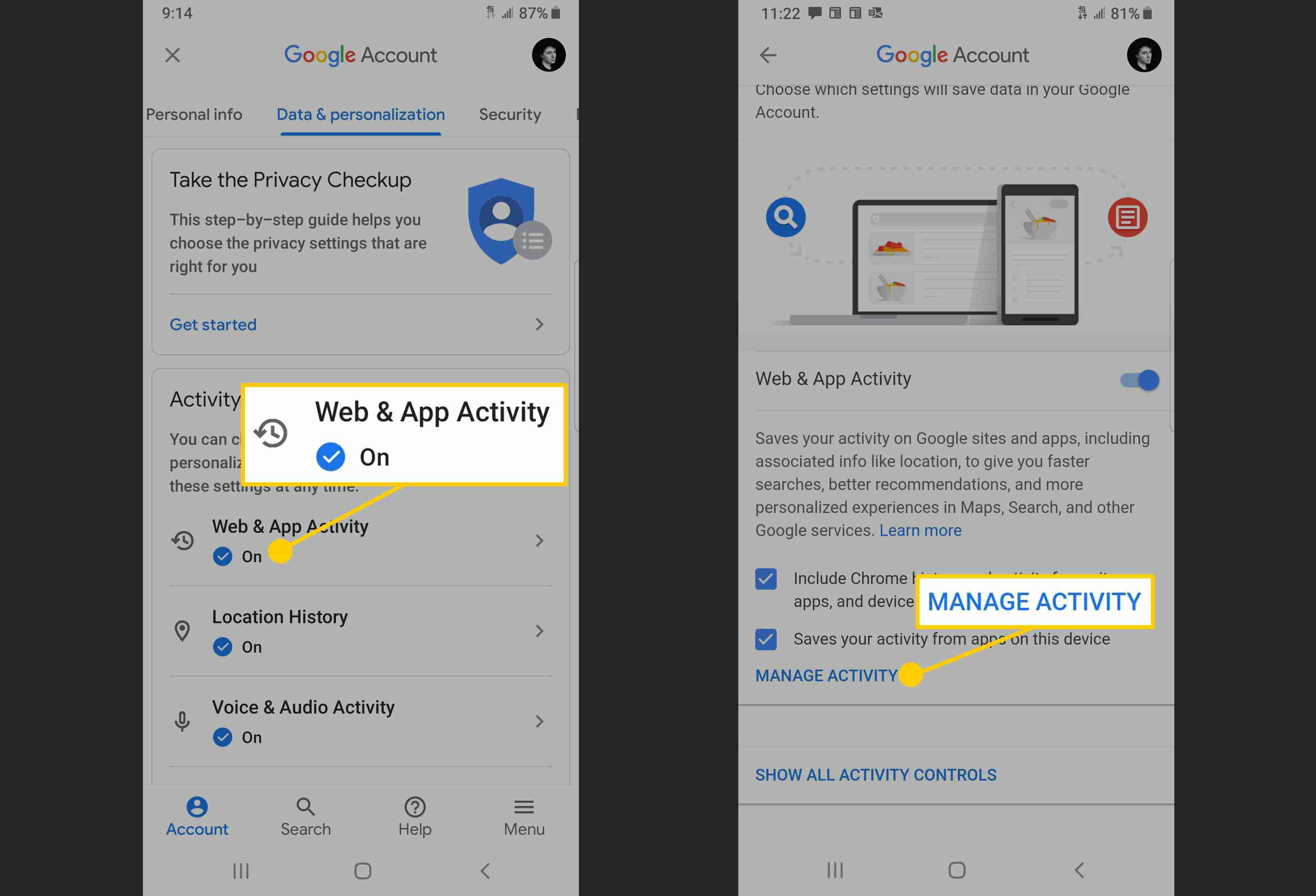 How to Auto Delete Google Activity