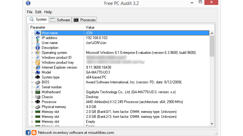 Free PC Audit v3 5 Review (A Free System Info Tool)
