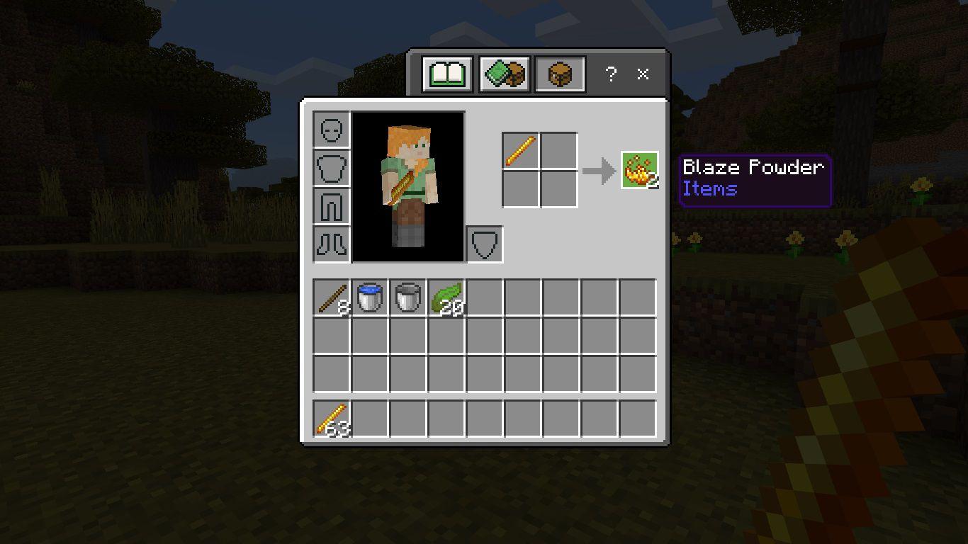 Craft Blaze Powder using 1 Blaze Rod.