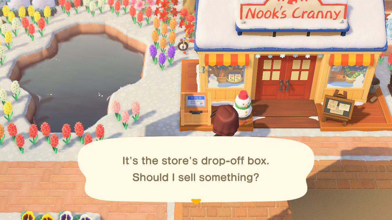The drop box in Animal Crossing.