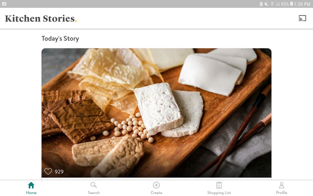 Kitchen Stories app on Android