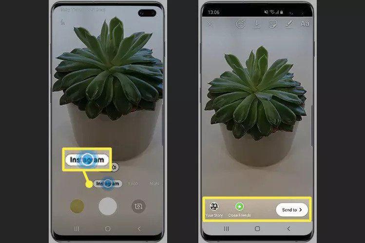 Instagram mode on Samsung Galaxy 10