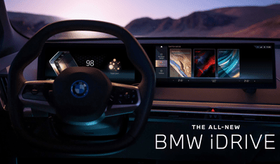 Promo image for BMW's new iDrive and personal car assistant