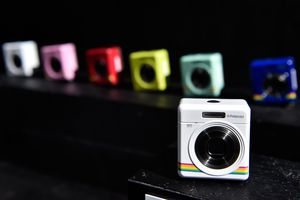 Colorful action cams on display