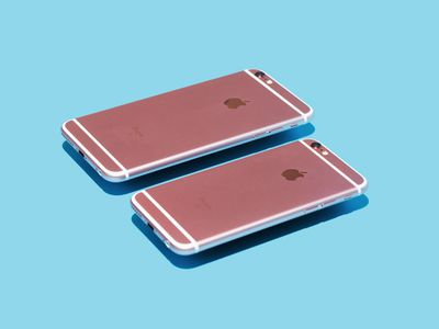 iPhone 6s models face down