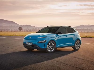 Hyundai Kona Electric in blue