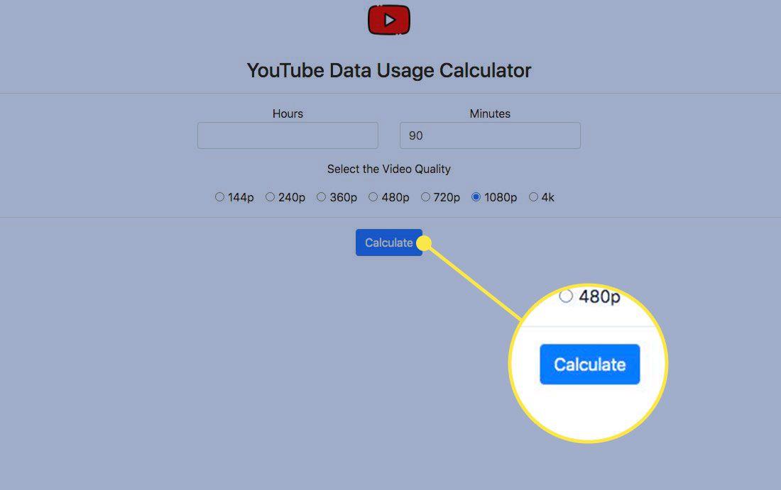 The Calculate button