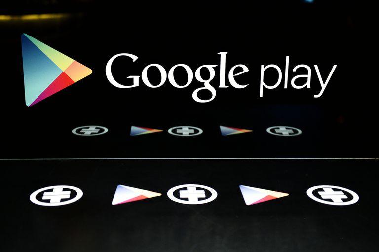 Google Play logo.