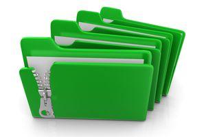 A green zip file