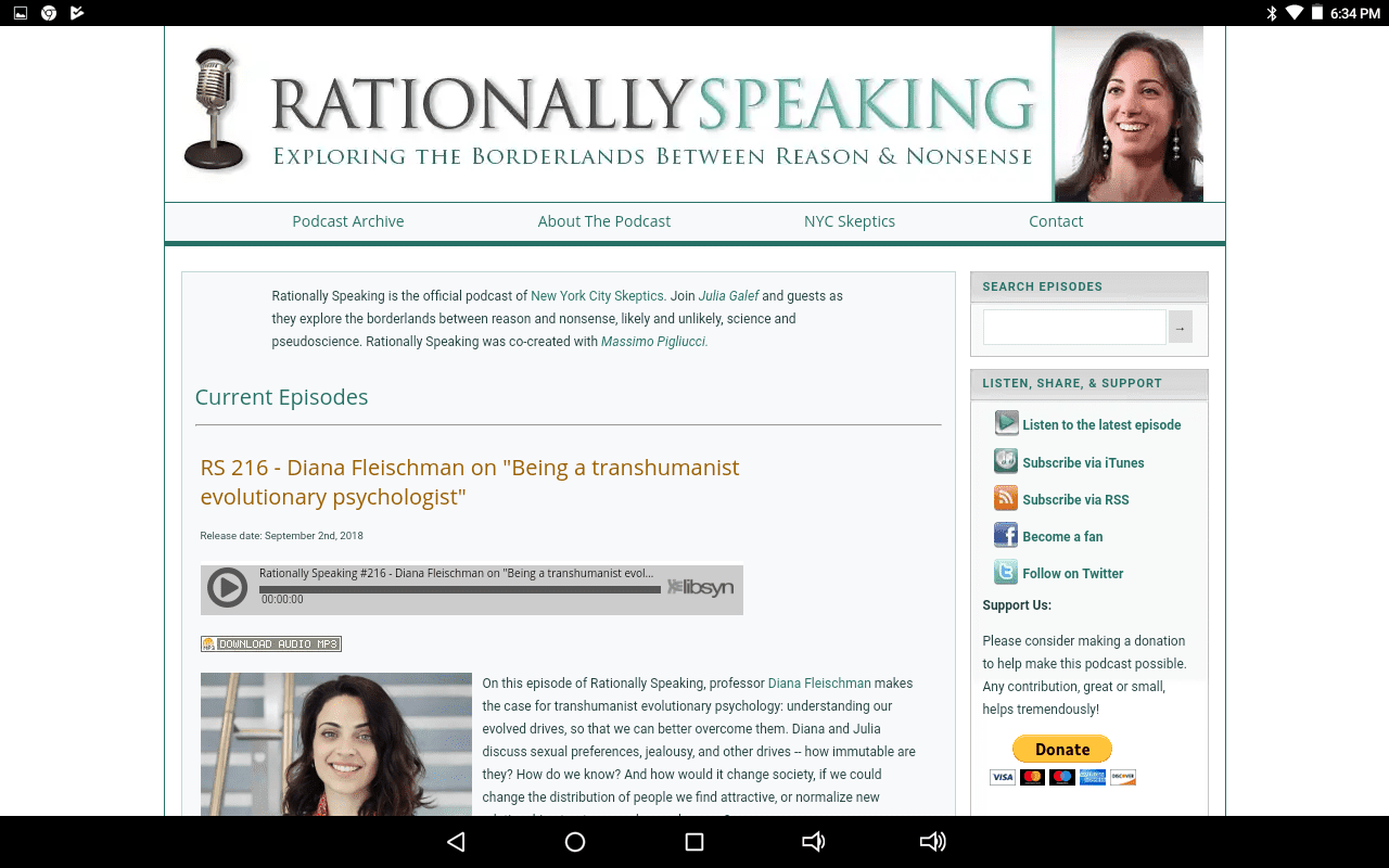 Rationally Speaking home page