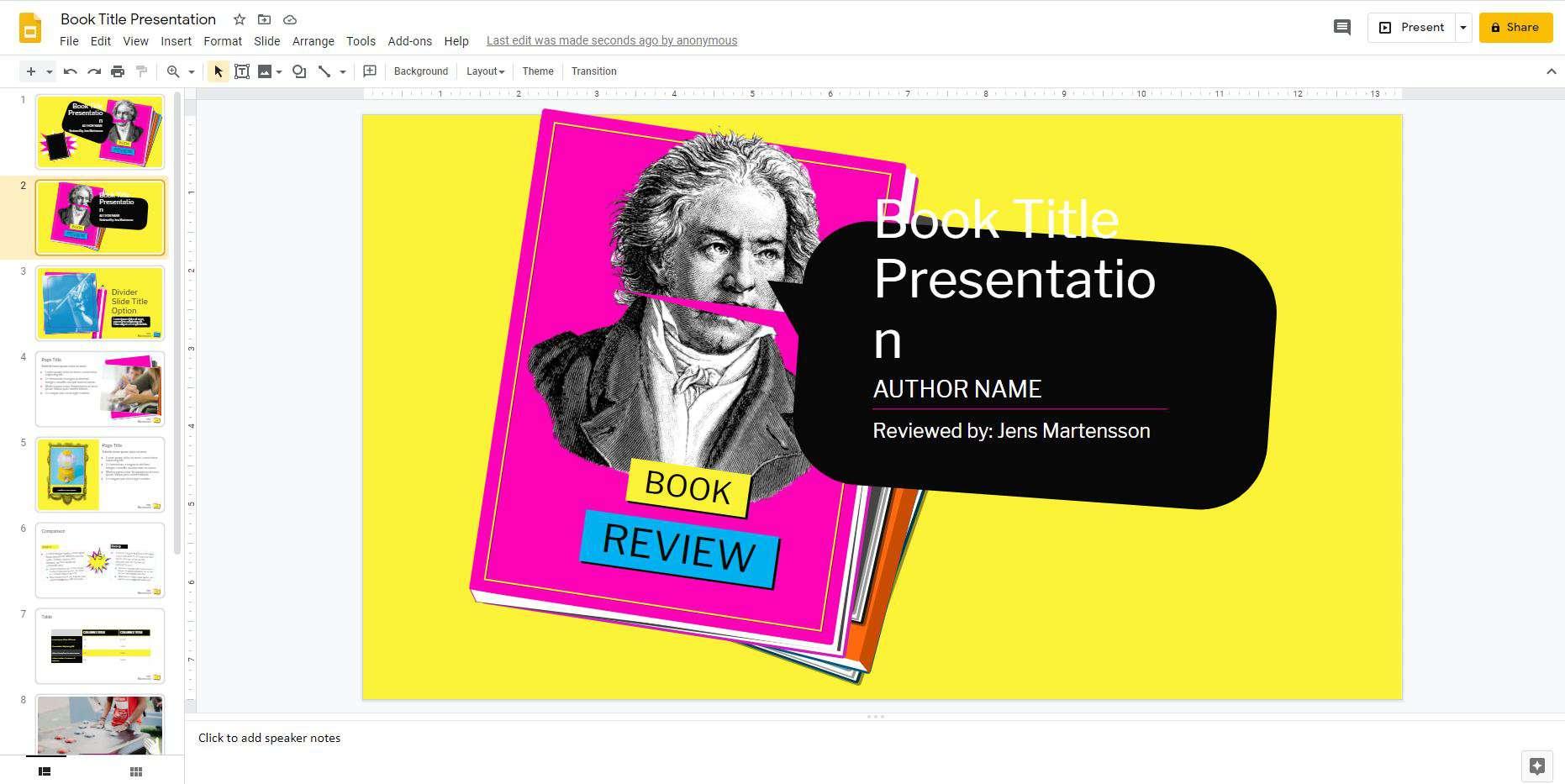 PowerPoint presentation in Google Slides
