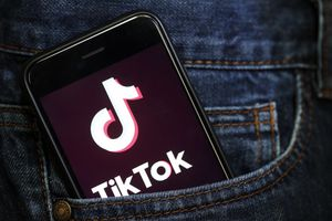 The TikTok app on a smartphone.