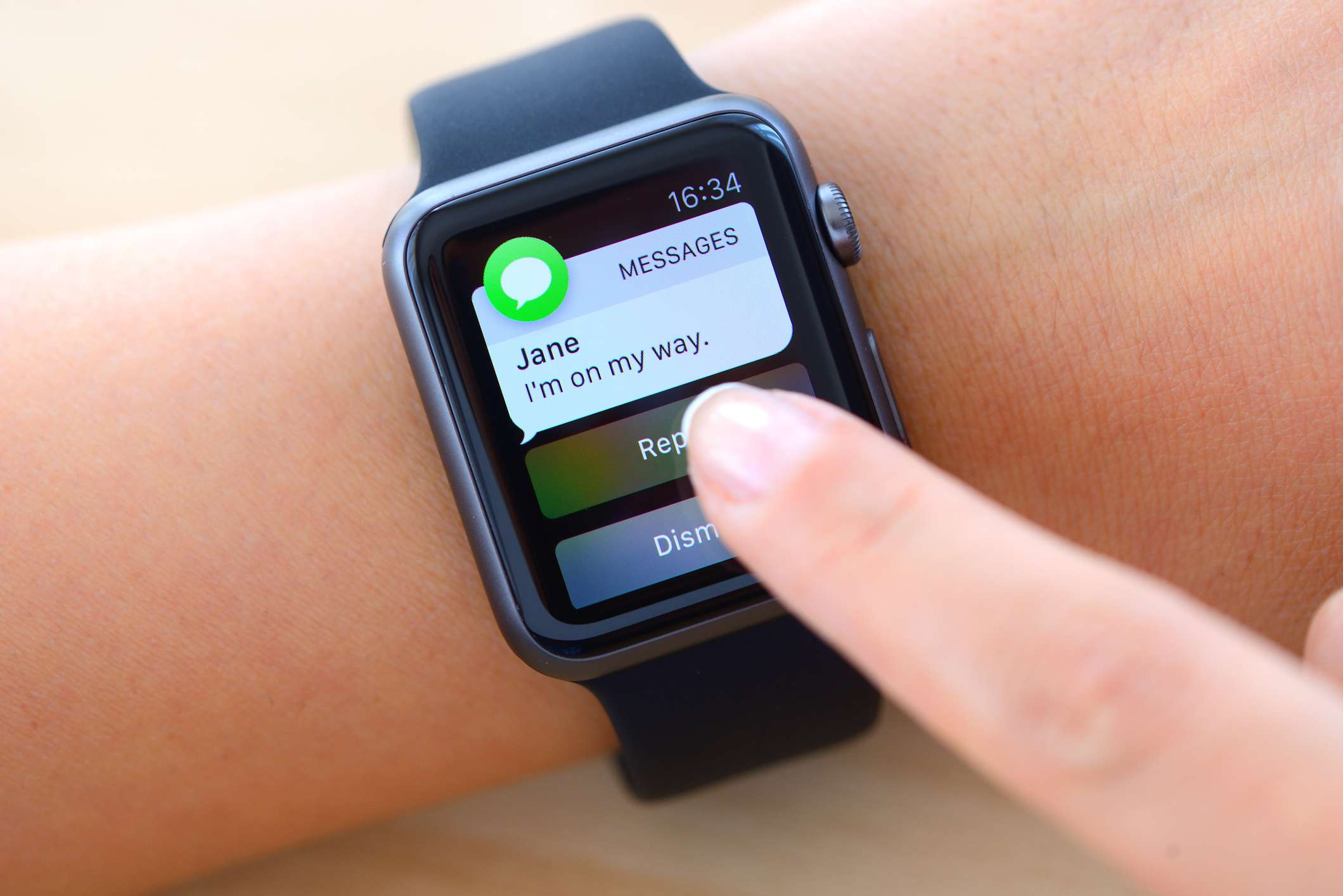 Text messages on Apple Watch before enabling Notification Privacy