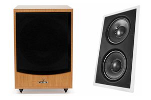 Fluance DB150 Powered Subwoofer and Audio IWS-88 In-Wall Passive Subwoofer