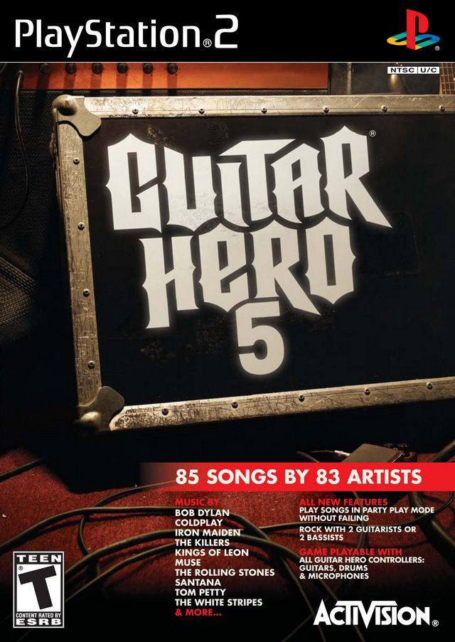 Guitar Hero 5 PS2 box cover