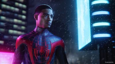 A screen capture of Miles Morales in the Marvel's Spider-Man: Miles Morales game