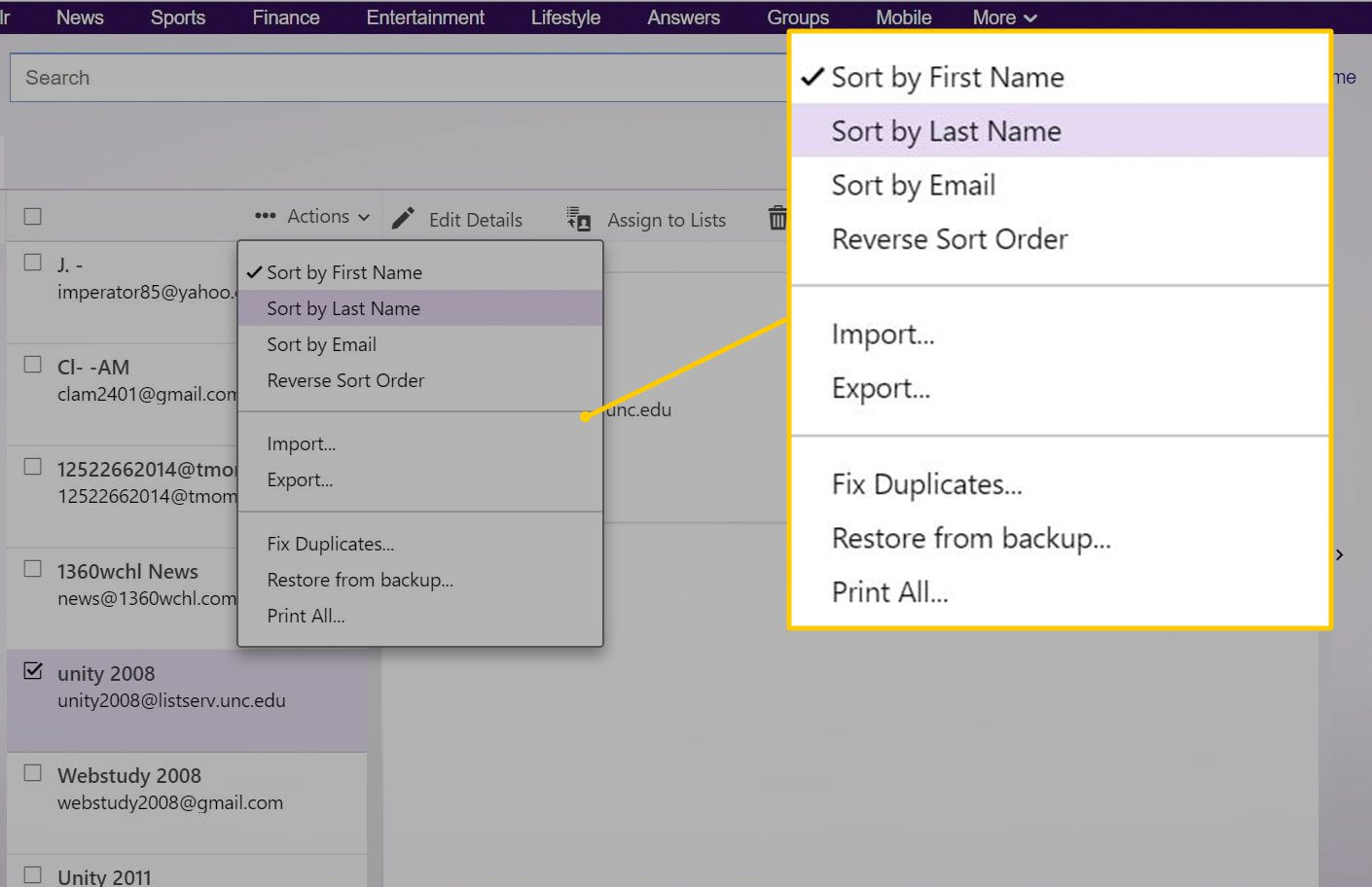 How to Add Contacts Automatically in Yahoo Mail
