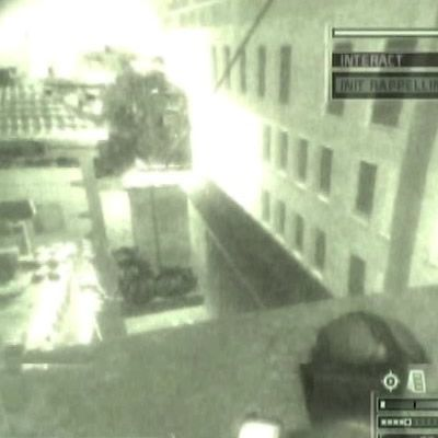 Take the top right light out first of gameplay of splinter cell