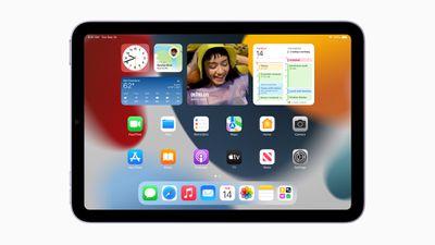 iPad mini 2021 home screen