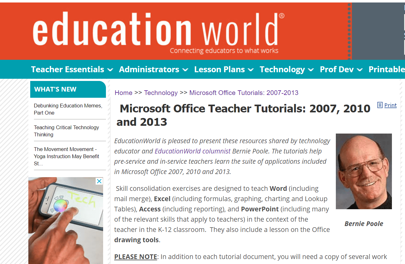 lesson plans for teaching students microsoft office